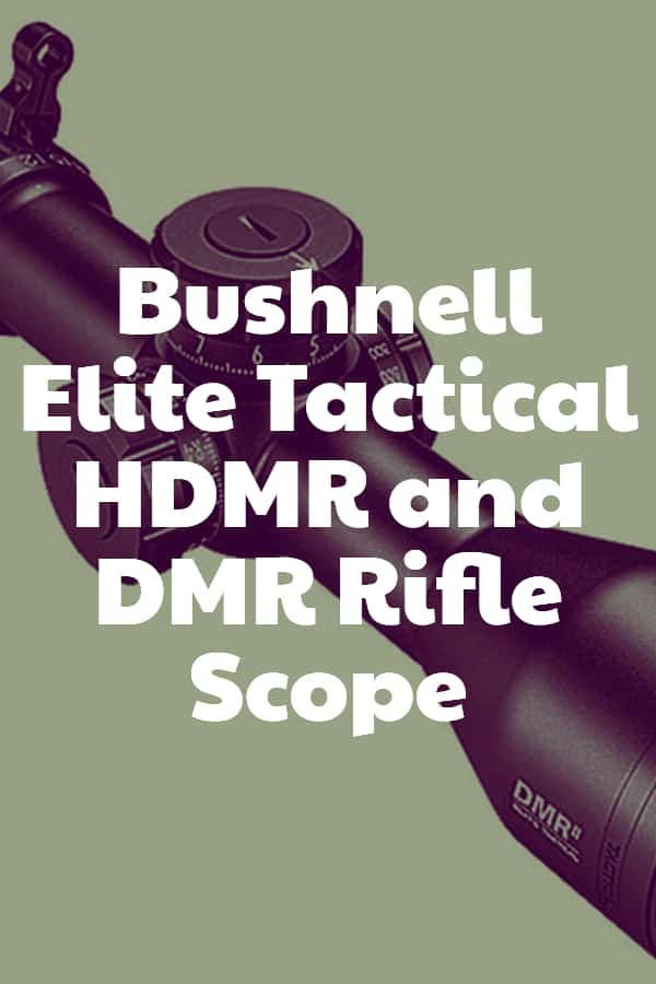 Bushnell Elite Tactical HDMR and DMR Rifle Scope Pin