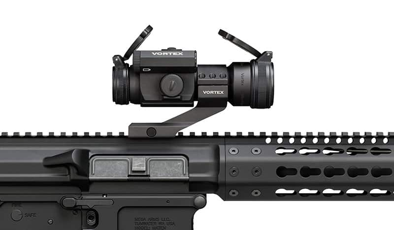 Vortex Strikefire 2 mounted on AR