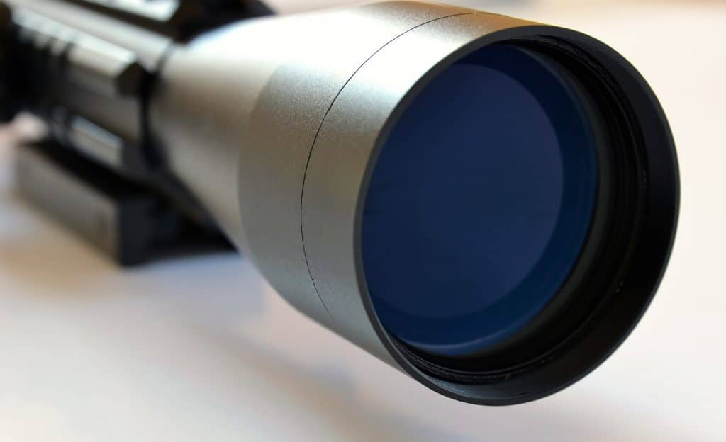 Objective lens of a scope for deer hunting