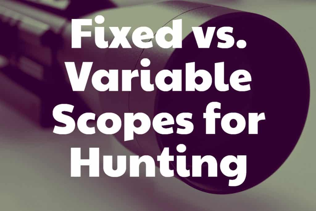Fixed vs Variable Scopes for Hunting