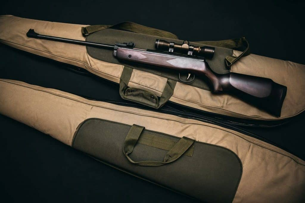 Rifle ready for hunting use