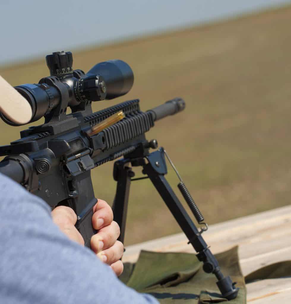 Rifle Scope mounted