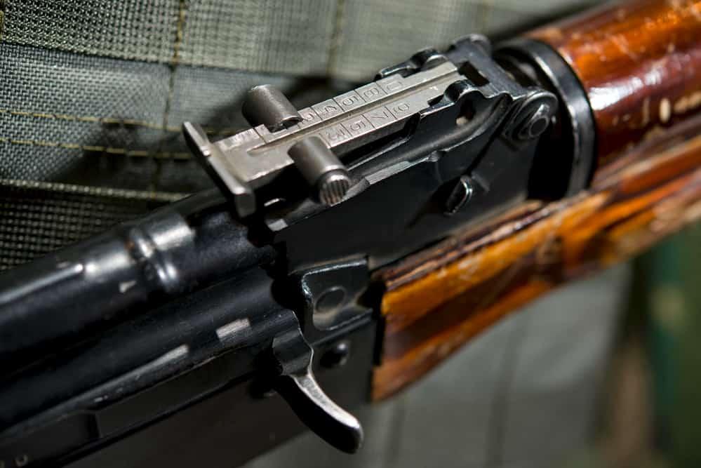 Iron Sights on a rifle