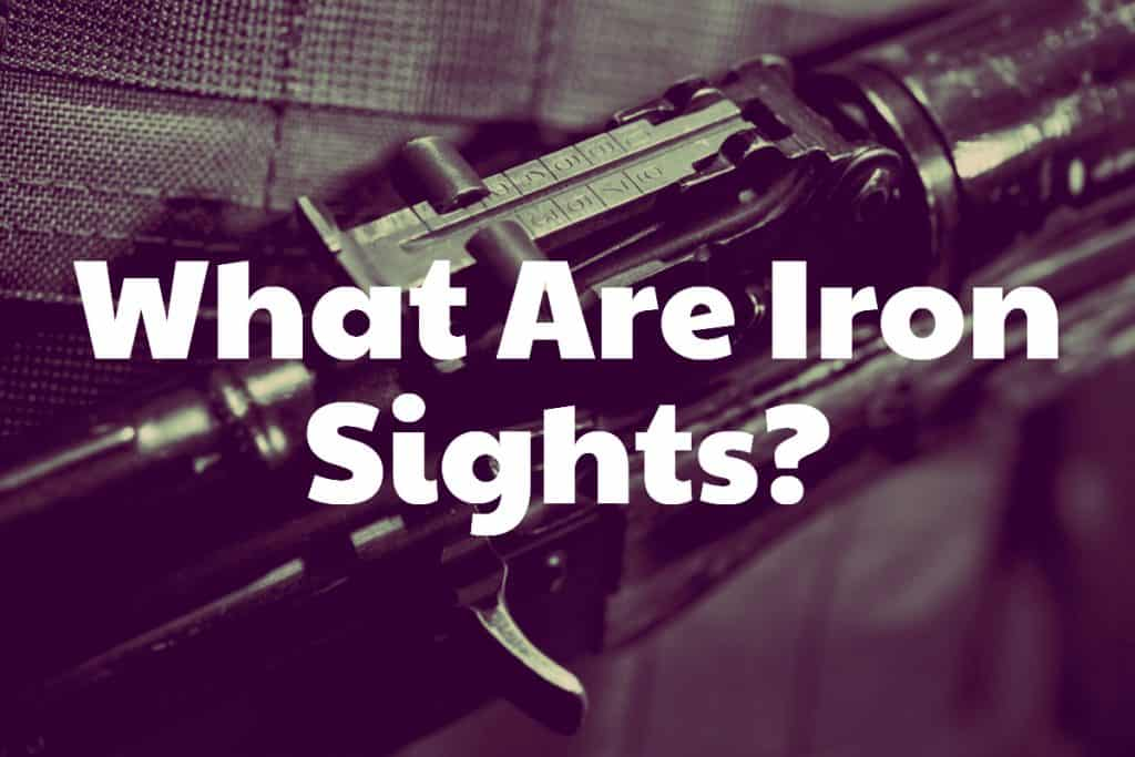 What Are Iron Sights? How to use iron sights?