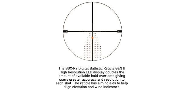 Sig Sauer BDX-R2 reticle with 194 LEDs