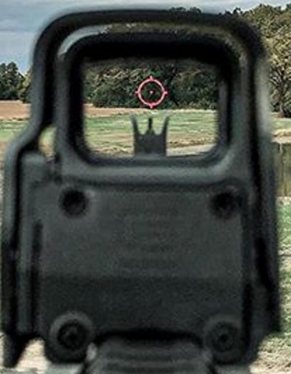 EOTech Co-Witnessing with Iron Sights