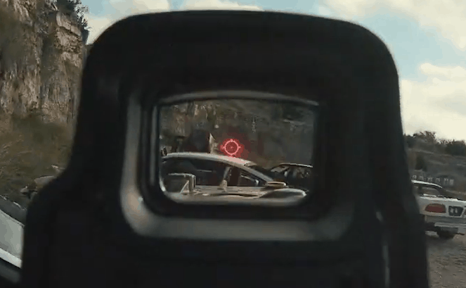 EOTech Target Acquisition with a holographic gun sight