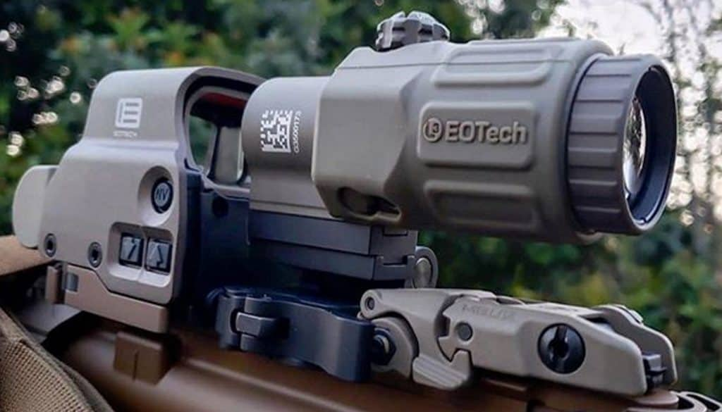 EOTech holo sight with magnifier