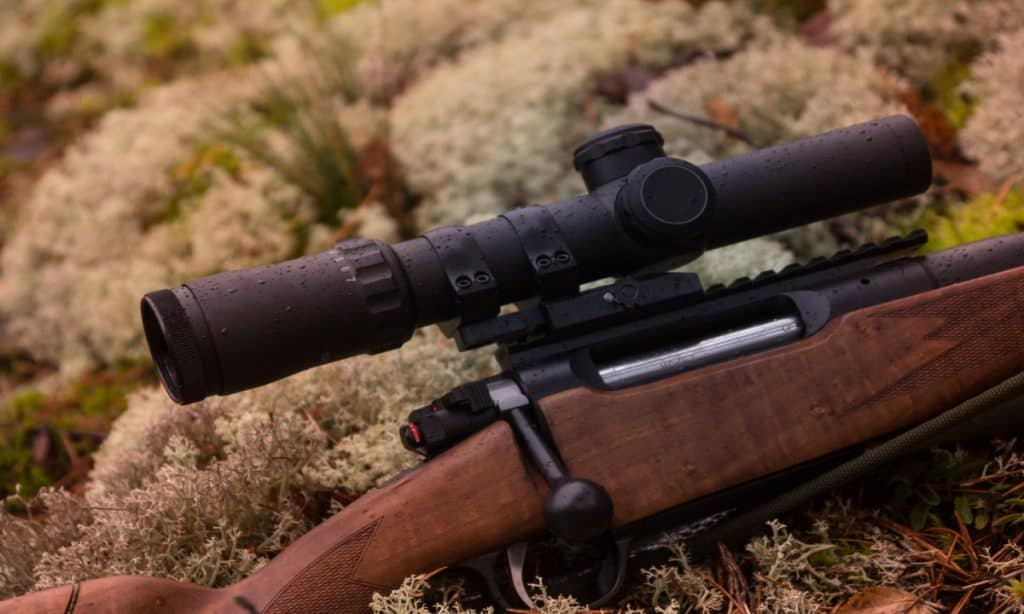 Mounted precision riflescope for hunting and shooting