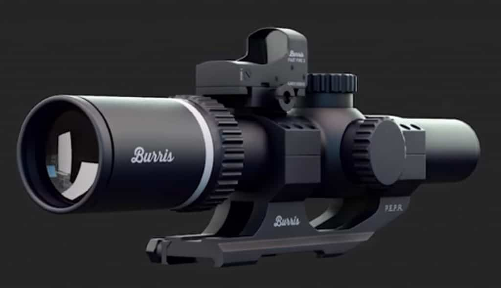 Burris TAC30 with red dot mounted on top